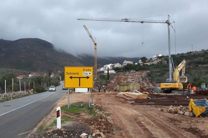 Radovi na ulazu u Cavtat u punom intenzitetu