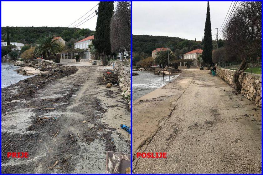 Smeće zatrpalo i plažu u Moluntu, djelatnici Čistoće i zelenila odradili odličan posao