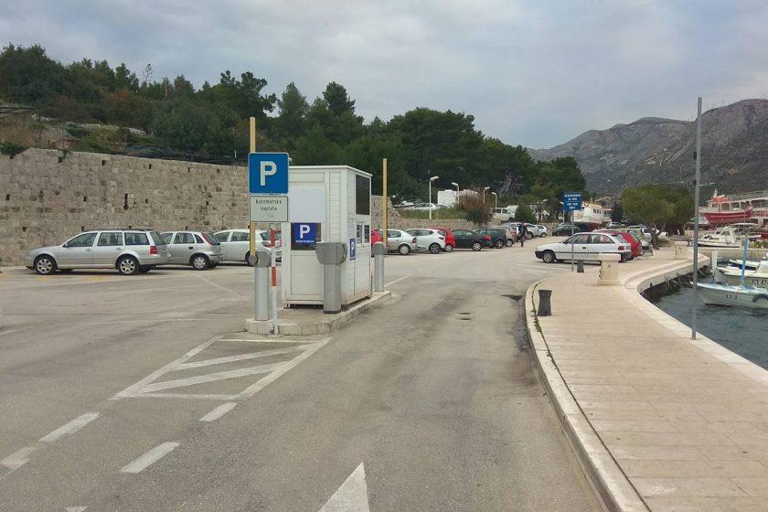 Parking u Cavtatu besplatan do daljnjeg