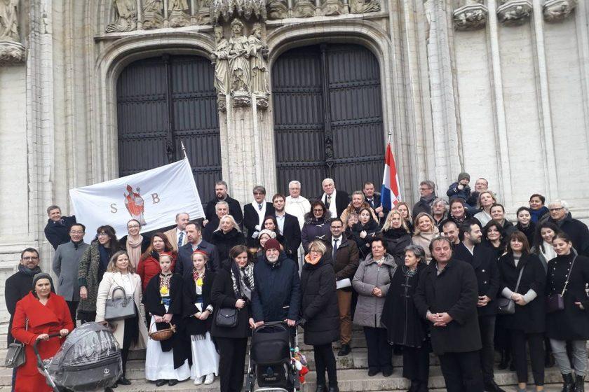 Konavoska nošnja i na Festi svetog Vlaha u Bruxellesu