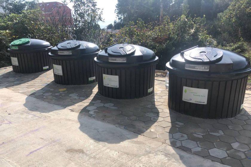 Na Mećajcu postavljeni novi podzemni spremnici za sortiranje otpada