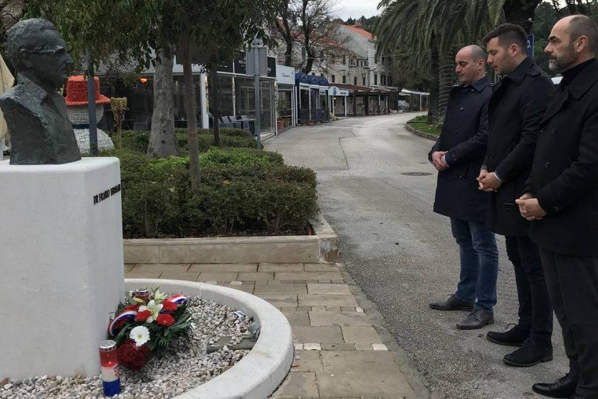 Predstavnici Općine Konavle položili vijence povodom 20. godišnjice smrti dr. Franja Tuđmana