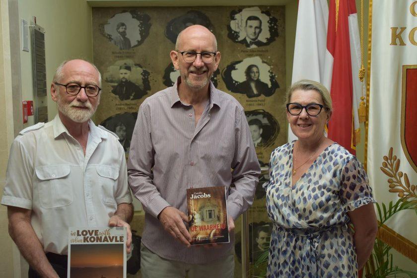 Načelnik Lasić primio belgijskog pisca koji je svoju zaljubljenost u Cavtat izrazio ne samo u knjigama već i promjenom adrese